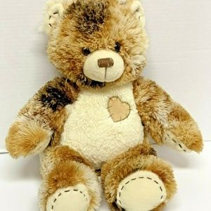 BAB Build A Bear Brown Tri-Colored Stitched Heart